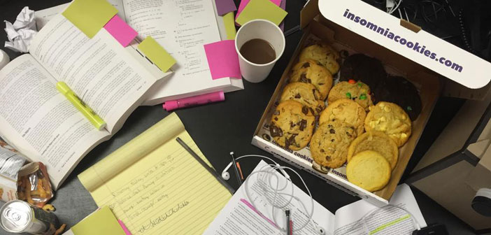 Insomnia Cookies students and cookies
