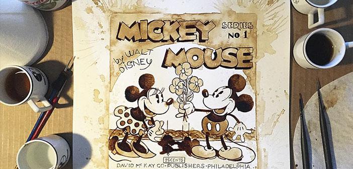 Artiste-Maria-A-Mouse Aristidou-pintura.Mickey