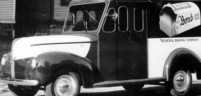Bond bread van, approximately 1940
