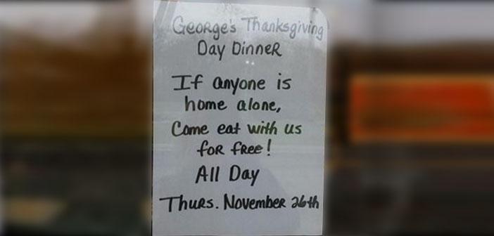 Restaurante solidario en Michigan en Acción de Gracias