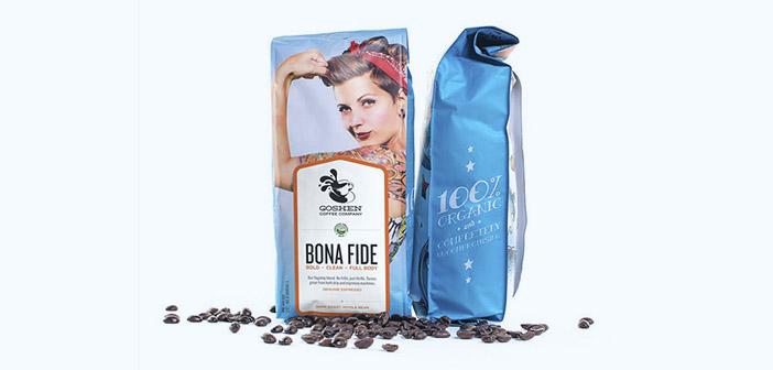 Coffe Goshen emballages décorés