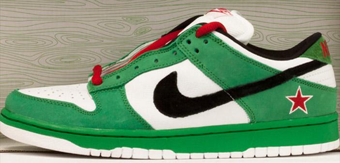 Zapatilla Nike modelo para Heineken