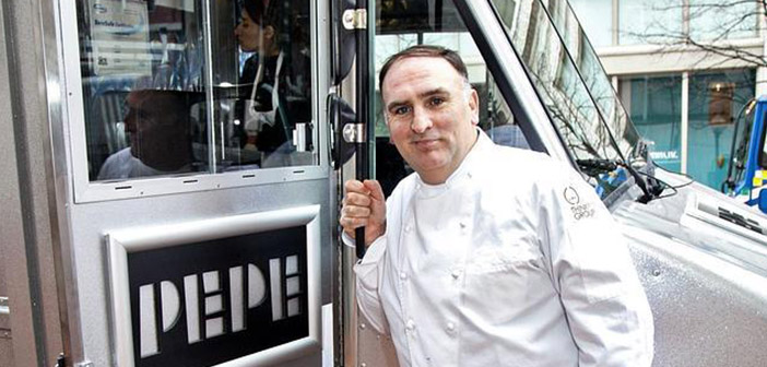 Time magazine included the chef José Andrés in their particular ranking of 100 most influential people