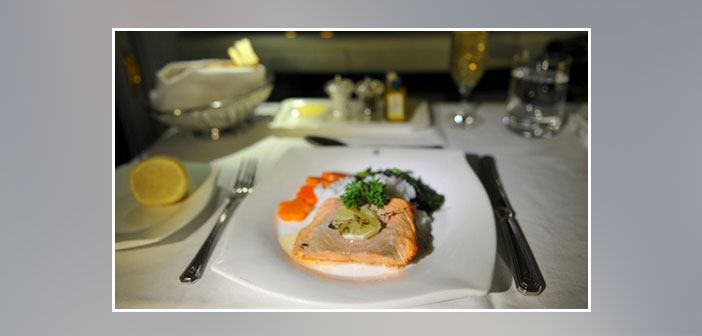 Emirates-Airlines---Dinner-in-first-class