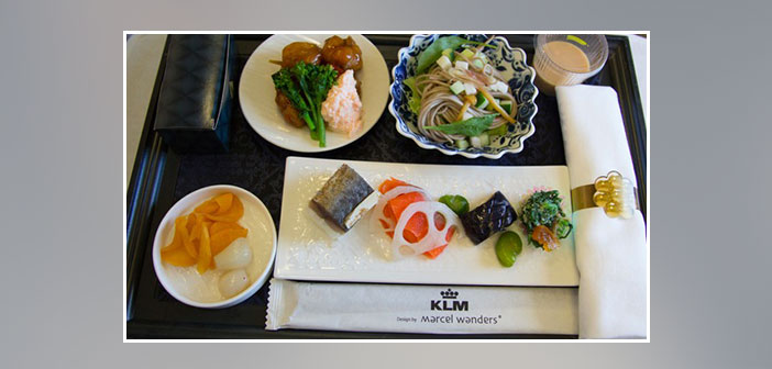 KLM---Dinner-in-business-class