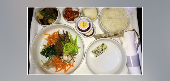 Korean-Airlines---Dinner-in-business-class