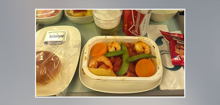 Korean-Airlines---Dinner-in-economy-class