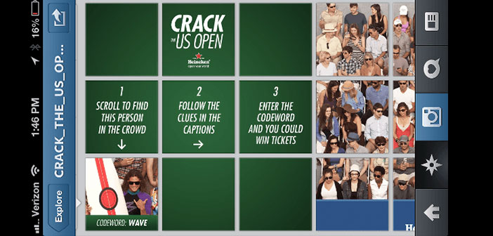 Contest via Instagram under the name Crack the US Open,