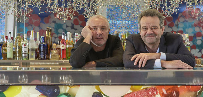 The designer Damien Hirst and Chef Mark Hix