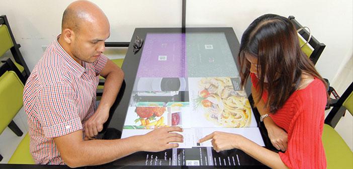 Restaurant-à-table interactive