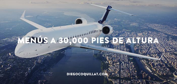 40 fotografías de menús de comida que sirven en los aviones