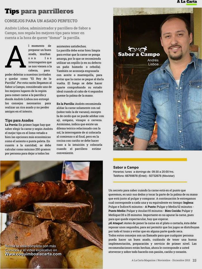 Mención en prensa a Andrés Lisboa