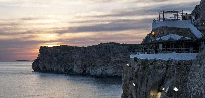 Restaurants Cova d'en Xoroi in Menorca