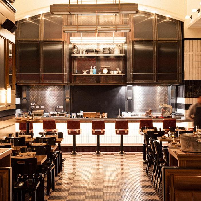 Le restaurant Kingside à New York est un bon exemple de la façon de transmettre des images.