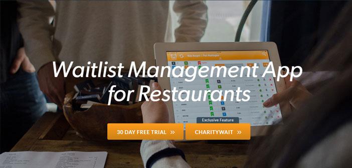 CharityWait qui est une option incluse dans SmartLine, une application de gestion des files d'attente dans les restaurants. Il permet aux clients de sauter la file d'attente et que votre table prête avant tout le monde, Vous cant souche!