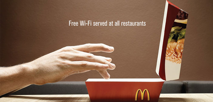 The Wi-Fi connection McDonalds restaurants