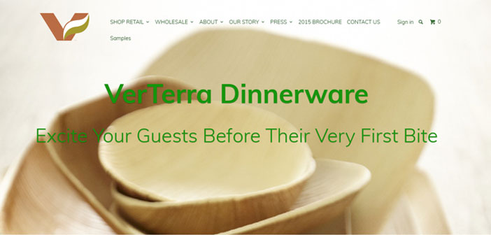 The company manufactures Verterra utensils with tree leaves.