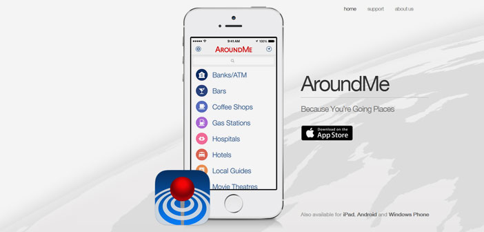 AroundMe permite buscar y localizar los restaurantes, bancos, gasolineras y bares más cercanos, así como reservar un hotel o ver la cartelera de los cines más próximos.