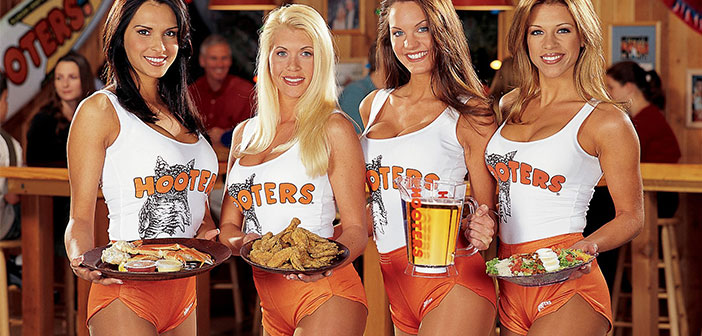 Hooters is the trade name owned by two US chain restaurants. Hooters focuses on male customers having female staff as scantily-clad waitresses.
