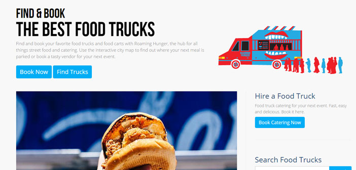 This application is centered in the United States and Canada and what does is lead you to the popular gastronetas or food trucks nearby.