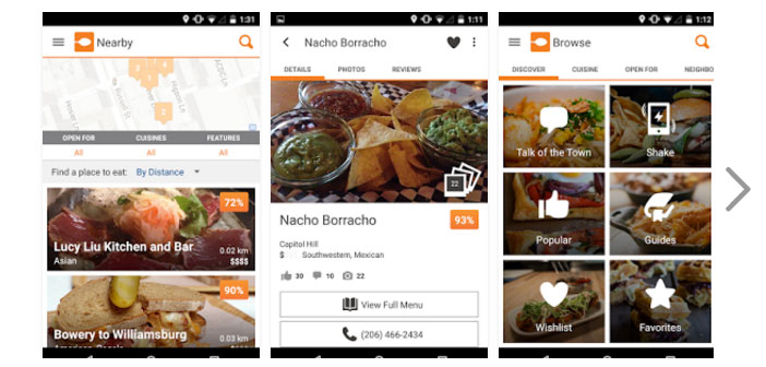 This app works by entering the area where we are still possible also specify the type of food, the desired price and schedule planned, and she will be responsible for making a screen where you look, select and advise us about the possibilities of restaurants.