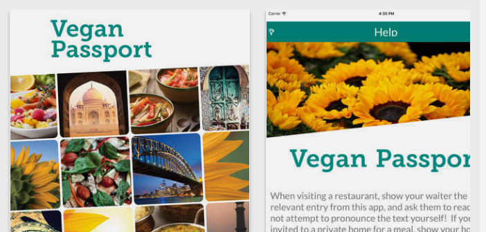 When traveling, It is good to have Veggie Passport, another Apple application that allows to know what kind of food and ingredients should ask if you are vegan.