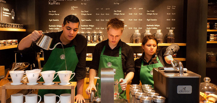 Starbucks was ranked the 73rd of 100 Best Workplaces in 2012 CNN Money that all part-time employees get full health benefits.