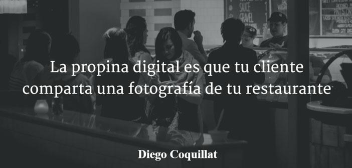 En ce qui concerne le concept & quot; pointe numérique & quot;, terme a été inventé par Diego Coquillat dans son article 2015 « La pointe numérique est que votre client partager une photo de votre restaurant ». Dans ce document, il fait référence au fait de laisser une empreinte digitale sur les restaurants réseaux sociaux, bars et endroits où consommaient, à travers des photographies, Les avis et notes.
