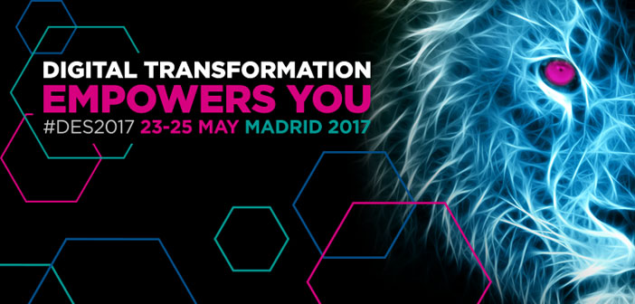 We have been chosen as Media Partner to cover one of the biggest events on innovation taking place in the world, el Digital Business World Congress 2017 #DES2017, which will take place on 23, 24 Y 25 May in Madrid.