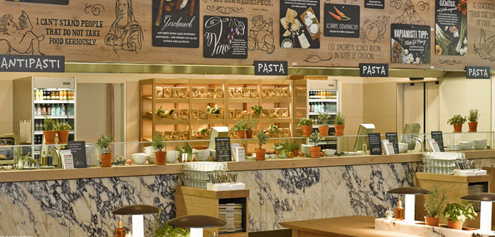 The franchise in question is called Vapiano, and it is simply spectacular. Pleasant and natural environment, well decorated, own style, fresh and intense aromas, everything in its right balance.
