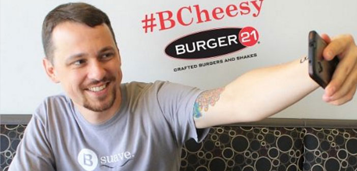 A contest whose objective was to share a photo of your hamburger channels Facebook or Instagram Restaurant. The winner would enjoy free burgers Burger 21 for a year.