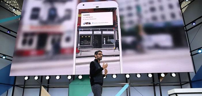 El CEO de Google, Sundar Pichai anunció hace unos días en la conferencia anual de desarrolladores de su empresa, la última novedad que presenta la plataforma. A partir de ahora podremos obtener toda la información que queramos sobre un restaurante, negocio o monumento de la calle con tan solo apuntar hacia él con la cámara de nuestro móvil.