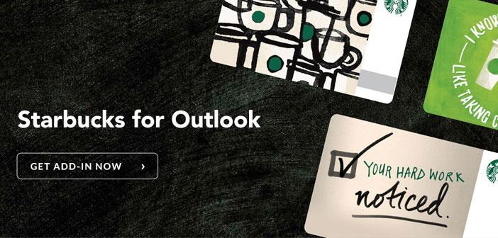Han creado una extensión para Microsoft Outlook que permite organizar reuniones de trabajo en el establecimiento Starbucks más cercano. Así promueven y simplifican una actividad que ya se estaba dando de forma orgánica en la mayoría de sus establecimientos.