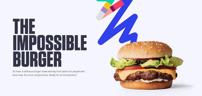 Déjà surnommé « hamburgers impossible », le produit phare de la société Aliments Impossible, Il est le premier burger exclusivement basée sur des plantes qui a atteint un goût presque identique et l'apparence de la viande bovine.