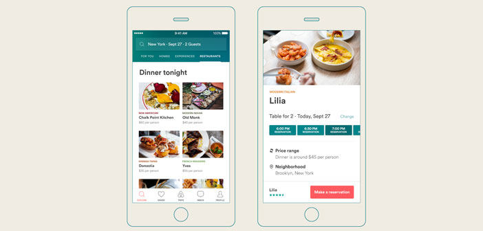 This restaurant reservations service is made possible through collaboration with booking app Resy, which it has been integrated seamlessly into Airbnb.