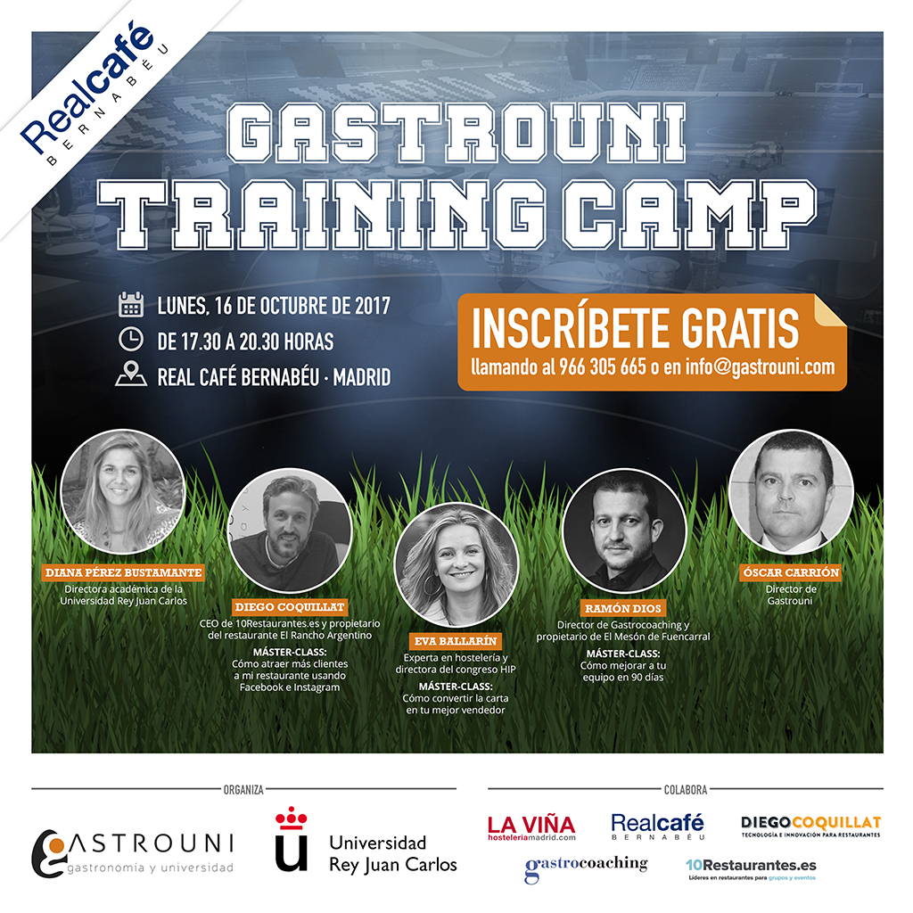 La primera sesión del Gastrouni Training Camp aterriza el 16 de octubre en Madrid