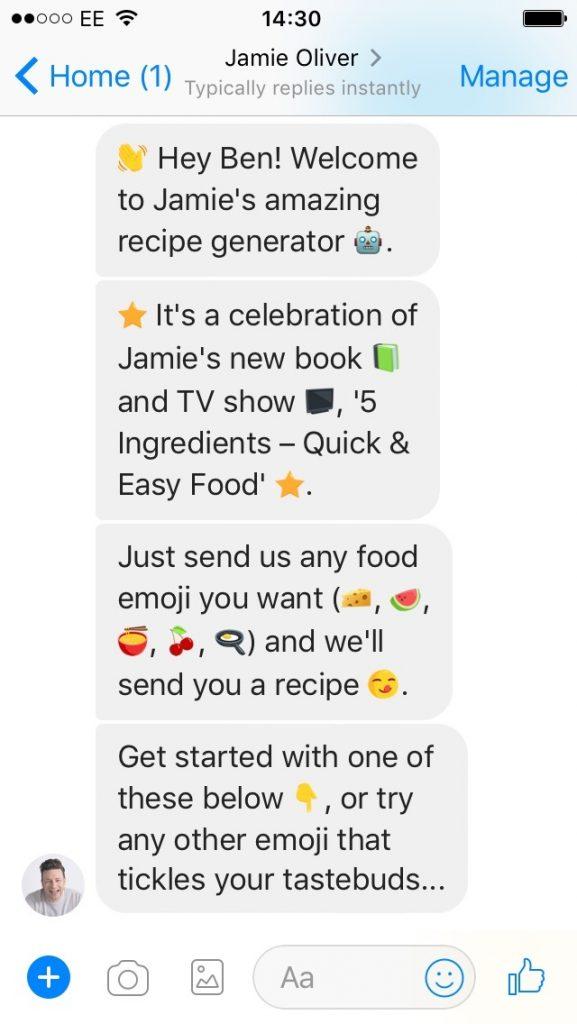 Jaime Oliver chatbot