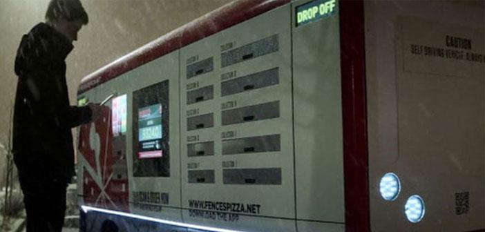 El vehículo de reparto ficticio que aparecía en el episodio Crocodile de la cuarta temporada de Black Mirror emitida por Netflix
