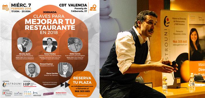 """Gastrouni organiza la jornada """"Claves para mejorar tu restaurante en 2018"""" Gastrouni organiza la jornada """"Claves para mejorar tu restaurante en 2018"""""""