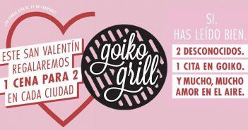 Goiko Frill organiza 12 citas a ciegas en sus restaurantes por San Valentin
