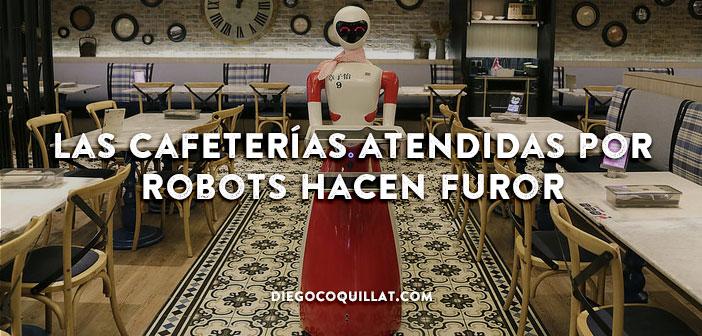Las cafeterías atendidas por robots hacen furor en Malasia