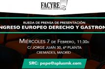 I Congreso Europeo de Derecho y Gastronomía
