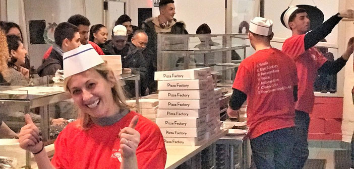 """To address the pizza all the fuss is seen as a logical evolution. & Quot; Thirty years ago nobody had mobile. Now, Imagine someone without one."""" A short phrase owner which shows the spirit of enterprise."""