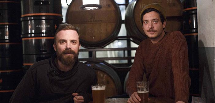 Alberto y Zamborlin James Welsh, los founders de Garage Beer Co.