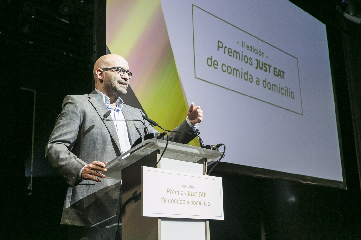 Jesus Rebollo, Country Manager of Just Eat Spain during the awards ceremony