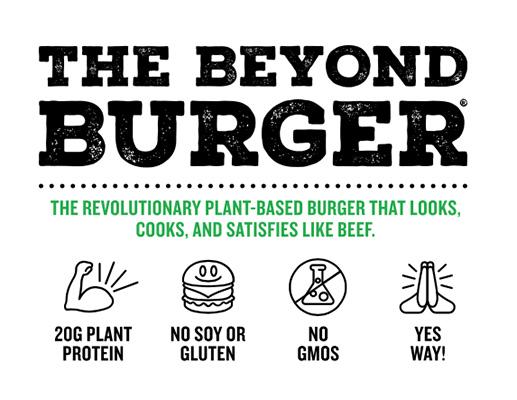 """Su primer producto se denomina The Beyond Burger, o """"más allá de la hamburguesa"""". Como Meatless Meet explica en su cuenta de Instagram, este producto no tiene carne, ni soja, ni gluten, ni transgénicos. Es un alimento de 20 gramos de proteína, elaborado para convencer tanto a veganos y vegetarianos, como a carnívoros."""