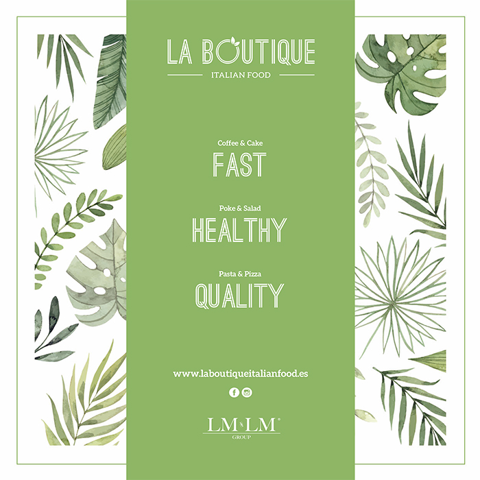 The Boutique Italian Food it born as a Fast Casual Restaurant Concept, where you can enjoy a varied gastronomic, healthy, in a quick manner and with a special service.