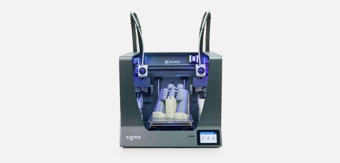 Las impresoras de soporte y detalle vienen de la mano de la empresa BCN3D Technologies que aporta el modelo Sigma