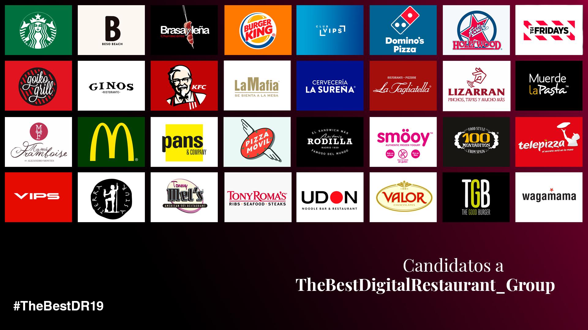 Nominados a The BestDigitalRestaurant_Group 2019
