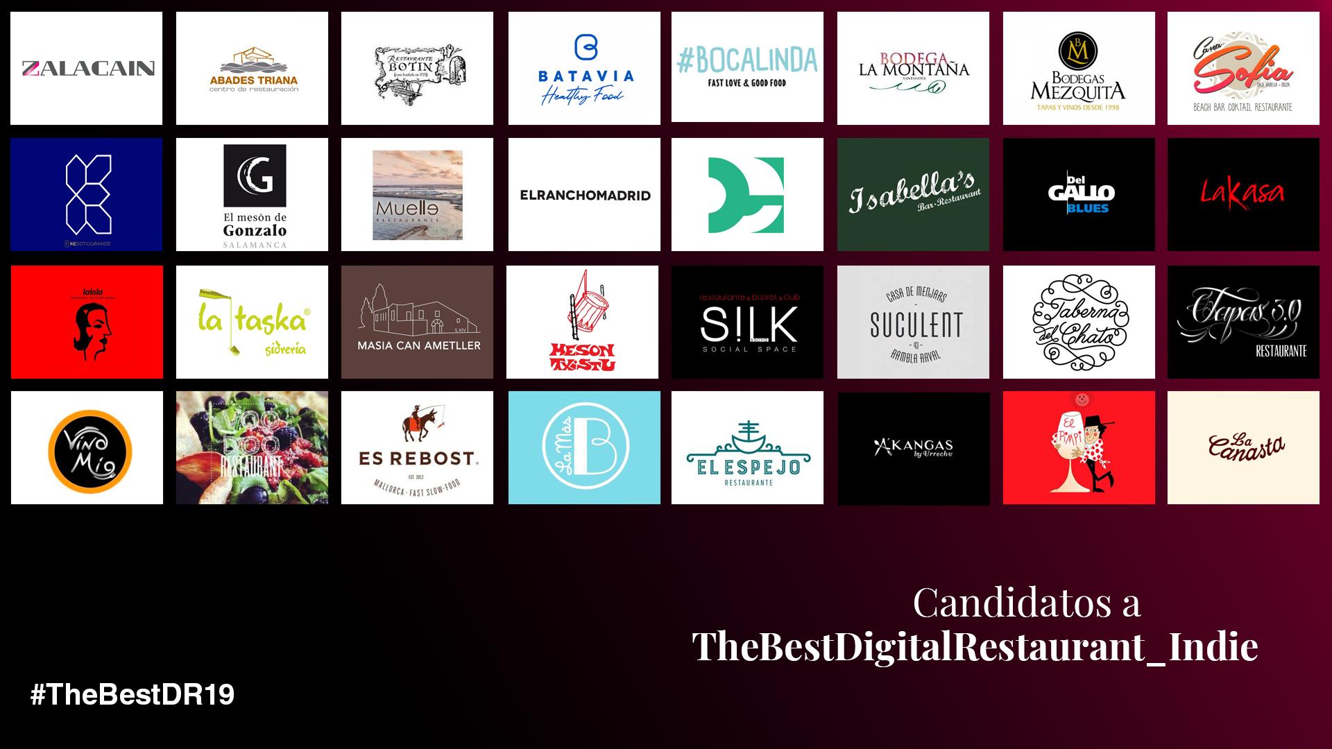 Nominados a TheBestDigitalRestaurant_Indie 2019